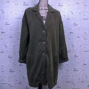Cloth & Stone military green button front jacket